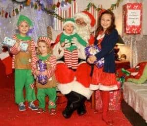 Father Christmas with Children at Farmer Palmer's Farm Park