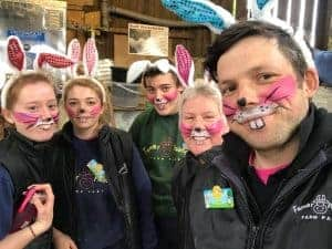 Easter Bunny Team at Farmer Palmers