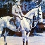 Bill Everett from Organford in the Army on a horse